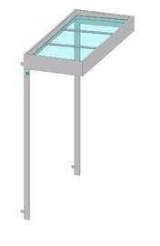 Container Vordach mit Glas
